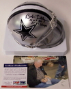Creative Sports Bob Lilly Autographed Hand Signed Cowboys Mini Helmet - PSA/DNA, AMHDC-LILLY-DBL-PSA