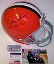 Creative Sports Jim Brown Hand Autographed Signed Cleveland Browns Throwback Authentic Helmet - PSA/DNA
