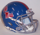 Creative Sports Mississippi Ole Miss Rebels Powder Blue Riddell Speed Mini Football Helmet