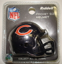 Creative Sports Chicago Bears Riddell Revolution Pocket Pro Football Helmet