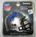 Creative Sports Detroit Lions Riddell Revolution Pocket Pro Football Helmet