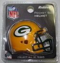 Creative Sports Green Bay Packers Riddell Revolution Pocket Pro Football Helmet