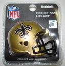 Creative Sports New Orleans Saints Riddell Revolution Pocket Pro Football Helmet