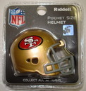 Creative Sports San Francisco 49ers Riddell Pocket Pro Football Helmet
