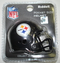 Creative Sports Pittsburgh Steelers - Riddell Revolution NFL Pocket Pro Football Helmet