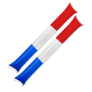 GOGO 100 Pairs Thunder Sticks / Cheering Sticks, USA Flag Color