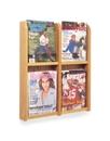 Charnstrom 1349 Wood and Acrylic Magazine Rack - 4 Pocket