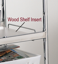 Charnstrom 2364 Laminated Wood Shelf Insert, for medium wire carts - White