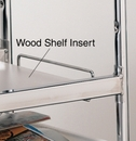 Charnstrom 2367 Laminated Wood Shelf Insert, for long wire carts - White