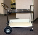 Charnstrom B114 Medium Frame Cart with Lower Metal Shelf with Air Tires