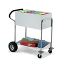 Charnstrom B139 Medium Solid Metal Cart With Ergo Handle and Rear Air Tires