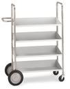 Charnstrom B153 Medium, Four Shelf Mobile Bin Cart