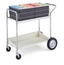Charnstrom B171 Medium Wire Basket Cart with Grey Lower Shelf