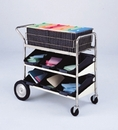 Charnstrom B172 Medium Wire Basket Cart with Two Lower Shelves