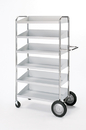 Charnstrom B237N Mail Room and Office Carts Six Shelf Mobile Bin Mail Distribution Cart