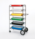 Charnstrom B237T Six Shelf Mobile Bin Cart
