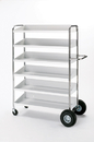 Charnstrom B240N Super Capacity Movable Bin Cart with Grey Shelves