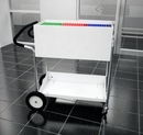 Charnstrom B241E Medium Solid Metal Cart with 10