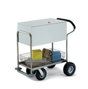 Charnstrom B245 Deluxe Solid Medium Metal Cart with Locking Top and Cushioned Ergo Handle