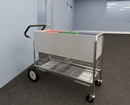 Charnstrom B249E Long Solid Metal Mail Cart 10