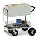 Charnstrom B252 Medium Solid Metal Cart with Cushion Grip Handle.