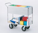 Charnstrom B253 Long Solid Metal Mail Cart with 8
