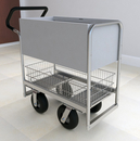 Charnstrom B254E Ergo Handle Solid Metal Cart with 3 Different Wheel Options.