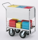 Charnstrom B254 Medium Solid Metal Cart with 3 Different Wheel Options.