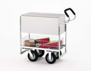 Charnstrom B255 Medium Ergo Solid Metal Mail Cart with Locking Top and Caster Options