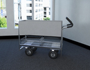 Charnstrom B256E Long Solid Metal Mail Cart with 8
