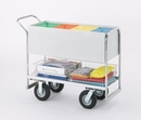 Charnstrom B256 Long Solid Metal Mail Cart with 8