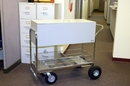 Charnstrom B257 Long Solid Metal Mail Cart with Locking Top