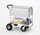 Charnstrom B269 Medium Solid Metal Cart with Cushion Grip Handle and Locking Top.