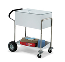 Charnstrom B283 Security Medium Metal Cart With Locking Top, Features Ergo Handle and Rear Air Tires