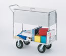 Charnstrom B285 Long Solid Metal Mail Cart with Locking top and 8