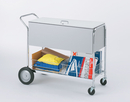 Charnstrom B288 Long Solid Metal Cart with Locking Top and 10