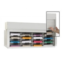 Charnstrom D130YL Mail Sorter-Office Organizer with Locking Security Doors 48