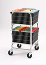 Charnstrom M016 Compact Office Cart with Two File Baskets