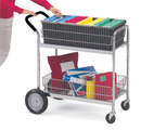 Charnstrom M101 Medium Wire Basket Cart with Cushion Grip