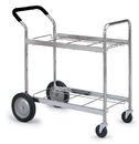 Charnstrom M112 Medium Double Decker Frame Cart with Cushioned Handle Grip