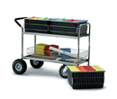 Charnstrom M142 Long Wire Basket Cart with Cushion Grip