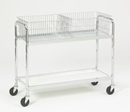 Charnstrom M163 long Office Cart with 2 Removable Baskets
