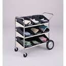 Charnstrom M205 Three Shelf Mobile Bulk Mail Cart with 9 Bins