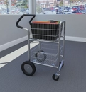 Charnstrom M240E Compact Mail cart with Bolt in Baskets, 10
