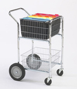 Charnstrom M240 Compact Mail cart with Bolt in Baskets and 10