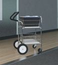 Charnstrom M241E Compact Easy Push Handle Wire Basket Cart with Cushion Grip
