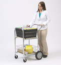 Charnstrom M241 Compact Dual Handle Wire Basket Cart