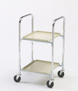 Charnstrom M246 Two Shelf Compact Office Cart with 4