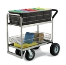 Charnstrom M262 Medium Wire Basket Mail Cart With Caster Options