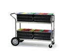 Charnstrom M281 Mail Distribution Cart and Office Carts with 4 File Folder Lift Out Baskets